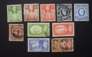 Great Britain  KGVI  group of used high value stamps  (lot 150)