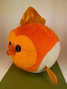 TY - Beanie Ballz -  2012 Large 30cm Orange Gold Fish - Bubbles Soft Toy Plush