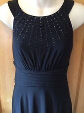 Jessica Howard Black Evening Dress Sequin Size 10 Christmas Party Prom Occasion