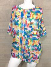 LuLaRoe Irma Tunic XS Geometric Watercolor Roses Floral Unicorn!
