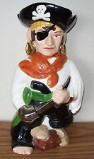 VINTAGE NOVELTY CERAMIC LIQUOR RUM DECANTER IN THE SHAPE OF A PIRATE