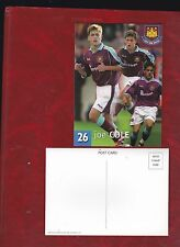Joe Cole in West Ham United kit postcard approx 2001