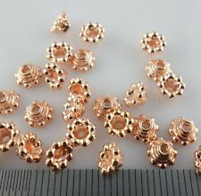 30/150/1000pcs Tibetan Silver/Rose Gold Alloy Small End Bead Caps Jewelry 3x5mm