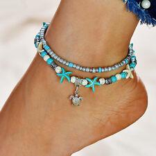 Fashion Jewelry Cavigliera Pietre Colorate Con Inserti Dorati Controcorrente Anklets