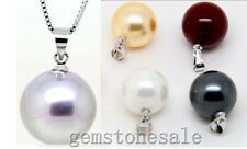 Nice Round Natural Sea Shell Pearls necklace Pendant Wholesale Lot