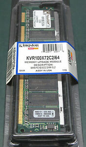 Kingston KVR100X72C2/64 (64 MB, SDRAM, 100 MHz)