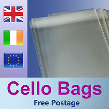 250 DL Cello Bags for Greeting Cards / Clear / Cellophane Peel & Seal Bags