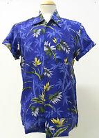 MENS INDIE RETRO NEW VINTAGE 80s PALM TREE FLORAL HAWAIIAN SHIRT XS S M  L XL