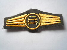German navy Abz. for Power drivers in olive / gold - maschinen embroidered