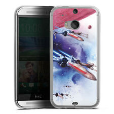 HTC One M8 Handyhülle Silikon Hülle Case - X-Wing - Star Wars