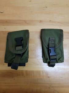 2 Tactical Tailor OD Green Molle Grenade/Compass Pouches