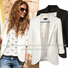 Cotton Blazer Regular Size Coats, Jackets & Vests for Women