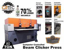 New Cjrtec 80 Ton Computer Controlled Beam Clicker Press Die Cutting Machine