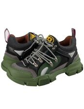 GUCCI Sneaker Flashtrek  Men's Shoes Green/Black - 100% ORIGINAL
