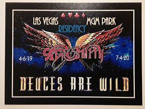 ☆ AEROSMITH ♤ Deuces ♡ Are ◇ Wild ♧ MGM Las Vegas ☆ MAGNET  ☆NEW☆ 2020