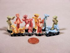 Pink Panther porcelain French Feves Miniatures Mother of Pearl finish