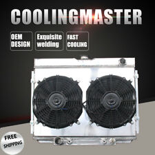 Aluminum Radiator &Shroud &12'' Fans For Ford Mustang Torino 67-70 BIG BLOCK V8