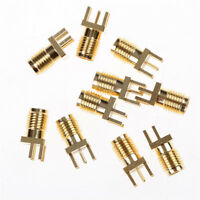 10pcs SMA Female Jack PCB Edge Mount Solder 0.062'' RF Adapter Connector TDO PPU