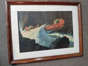 """Rare print of """"McKenzie Crossing the Rockies in 1793"""" by Arthur Heming - 1932"""