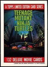 Title Card#1 Teenage Mutant Ninja Turtles The Movie 1990 Topps Tradecard(C1324B)