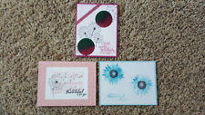 New listing 3 Handmade Stampin' Up Dandelion Wishes, Painted Harvest