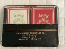 Vintage Chevrolet Jim Endicott Bridge Deck Playing Cards Chevy Webster Groves MO