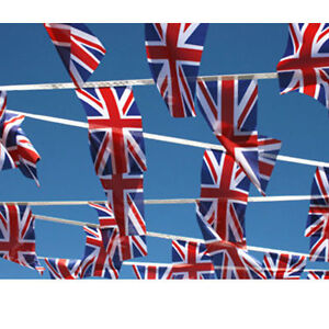 Royal Wedding Harry Meghan Union Jack Bunting Flag Pubs Parties Sporting events