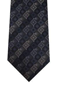 John Ashford gray tie classic polyester washable new