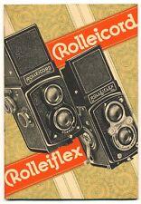 "Franke & Heidecke raro libretto ""Rolleiflex Rolleicord"" in Italiano '30  D754"