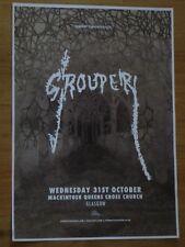 Grouper live music memorabilia - Glasgow oct.2018 show tour concert gig poster