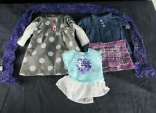 "18"" Doll Clothes Lot 5 Pieces American Girl Our Generation Battat Dress Scarf"