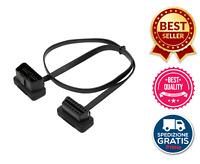 Adattatore Cavo Estensione Prolunga 16 Pin Per Dispositivi Diagnosi OBD 50 Cm