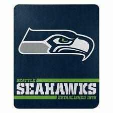 """Northwest NFL Seattle Seahawks Fleece 50x60"""" Throw Blanket Split Wide"""