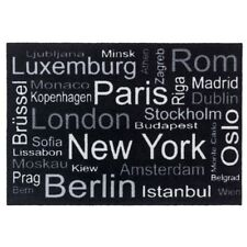 Fussmatte Homelike Städte international schwarz 50x70 cm
