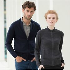 Mens Womens Ladies Full Zip Zipped Knitted Cardigan Jacket Knit Jumper Sweater