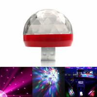 1x Colorful Decor LED USB RGB Plastic Car Interior Atmosphere Neon Lights Lamp