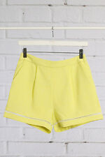 Junior Yellow Shorts with crochet lace insert