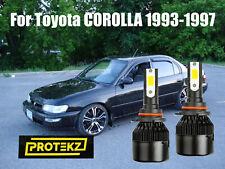 Led Corolla 1993 1997 Headlight Kit 9006 Hb4 6000k White Cree Bulbs Low Beam