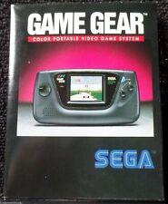 SEGA GAME GEAR Booklet JOE MONTANA FOOTBALL POSTER Official SHINOBI Games SONIC