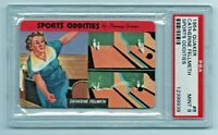 1954 Quaker Sports Oddities #8 Catherine Fellmeth Bowling Two Spares PSA 9