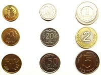 POLAND 9 coin complete set 1+2+5+10+20+50 groszy +1+2+5 zlotych