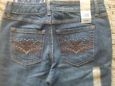 Bandolinoblu Womens Jeans Size 6p Brand new with tags Stretch Lo Rise Flared bot