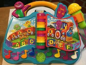 BARNEY & FRIENDS LEARNING ABC ALPHABET & NUMBERS TODDLER TOY  Talking Musical