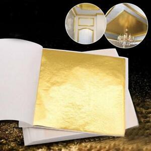 24K Essbare Sliver Gold Folie Blatt Kochen Kunst Arbeit Vergoldung Nice