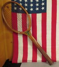 Vintage 1920s Nj Magnan Wood Antique Tennis Racquet Expert Model Eagle Logo Nice
