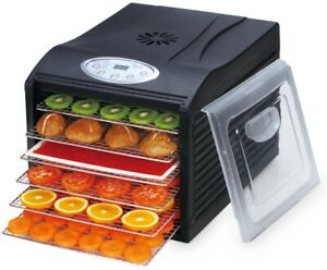 """Samson """"Silent"""" 6 Tray Dehydrator with Digital Controls & Stainless Steel Trays"""