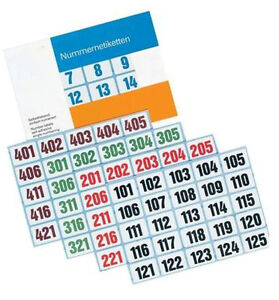 Numbers - Labels 1000-2000, 0 21/32in x 1in - Ve 100 Labels Count