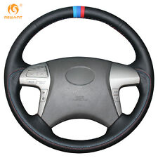 Soft Genuine Leather Steering Wheel Cover for Toyota Highlander Camry 2007-2011