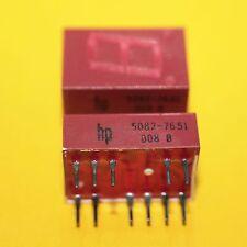 1 x HP 5082-7651 7 segment Affichage Display red LED Hewlett packard 1pcs