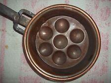 Alte Schneckenpfanne Pfanne-Kupfer-Eierpfanne-Kupferpfanne 20cm